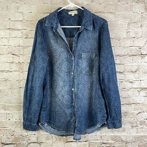 Anthropologie Cloth & Stone Long Sleeve Tunic Lg